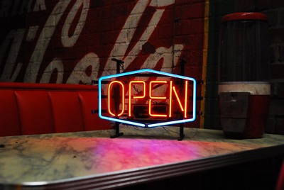 Open Neon signing
