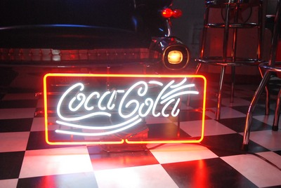 Coca-Cola neon sign (frame)