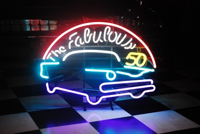 The Fabulous 50's neon sign