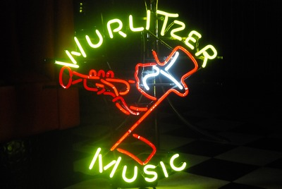 Wurlitzer neon sign