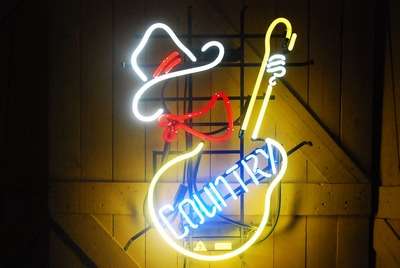 Country Cowboy neon sign